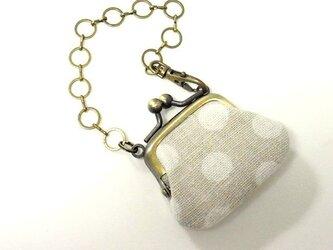 プチがま口(水玉)のバッグチャームの画像