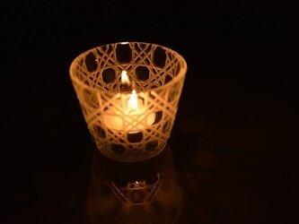 東京切子(花切子)マルチグラスmini 八角籠目の画像