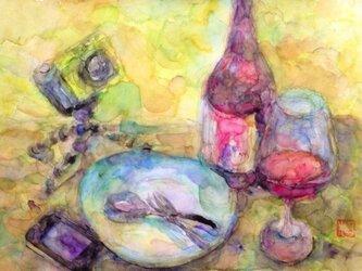 「ワインとiPhone」の画像
