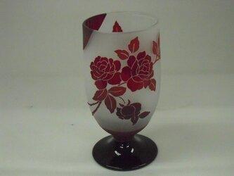 バラ紋様【ビールが旨い不思議なグラス】の画像