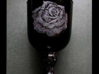 グラス--薔薇の画像