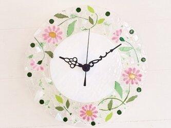 【オーダー制作】壁掛け時計(マーガレット・ピンク)の画像