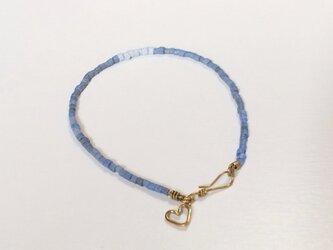 SALE ヒーシービーズ ミックスブルー ブレスの画像
