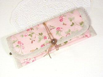 ぺたんこ長財布 「ミニョン・ピンク」の画像