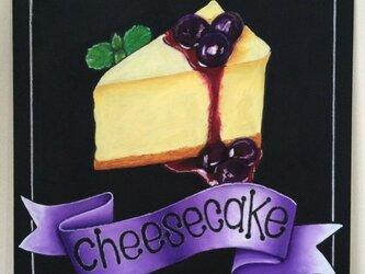 チョークアート チーズケーキの画像