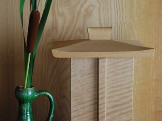 小形厨子小形仏壇 白木楢チジミ目 の画像