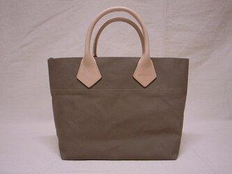 ヌメ革ハンドルミニトートバッグ(ココア色)の画像