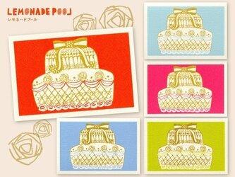 レトロケーキポストカード★5枚セットの画像