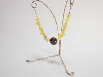 マグネット式羽織紐(オリーブジェード)の画像