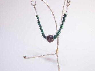 マグネット式羽織紐(孔雀石)の画像