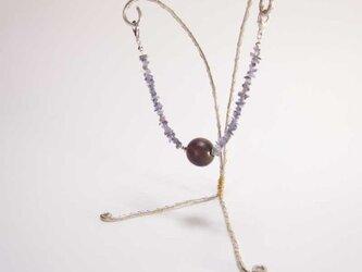 マグネット式羽織紐(菫青石)の画像