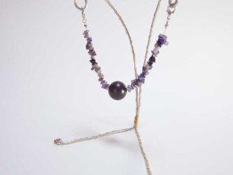 マグネット式羽織紐(チャロアイト)の画像