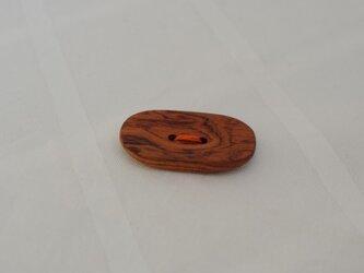 楕円ボタン(ブビンガ)の画像