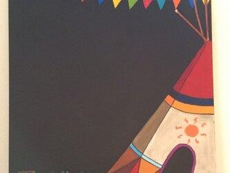 チョークアート テントの画像