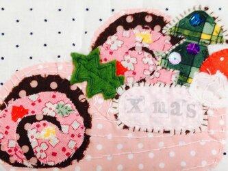 クリスマス*ブッシュドノエルのコースターの画像
