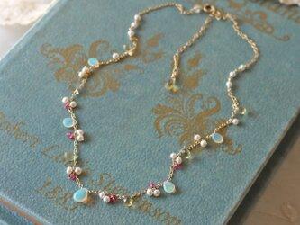 ◆K14gf,エチオピア産オパール,レモンクォーツ,淡水真珠,Nの画像