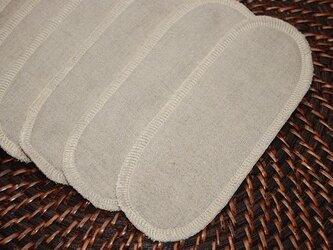 オーガニックリネン 布ナプキン形成パッドの画像