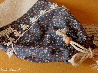 *送料無料*木の実レースの巾着袋の画像