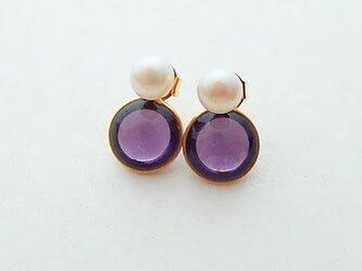 2way pearl + glass - purpleの画像