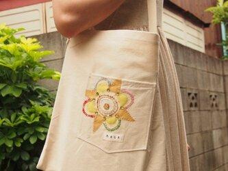 帆布BAG【オーガンジー装飾】の画像