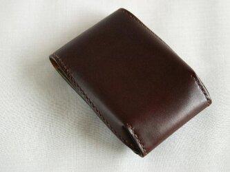 手染め手縫い革の小さいお財布 Pocketの画像