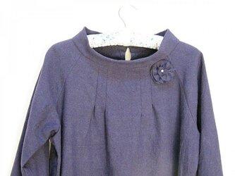 綿麻ラグランワンピース~七分袖~の画像