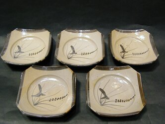 絵唐津銘々皿セットの画像