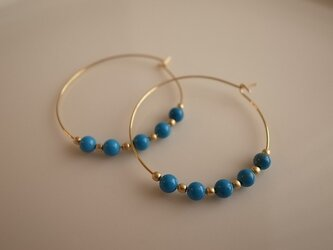 turquoise hoop earringsの画像