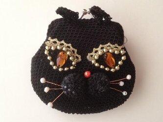 黒猫のがまぐちの画像