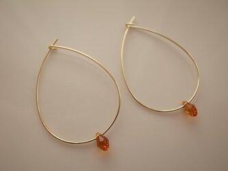 swarovski hoop earringsの画像