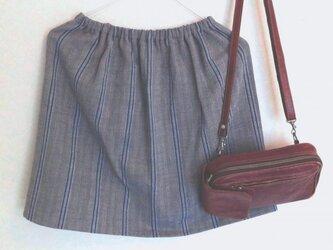 天然素材のギャザースカート(ジンバブエ・コットン)の画像