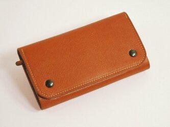 【受注製作】財布 wrap-L [ブラウン]の画像