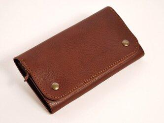 財布 wrap-L [ダークブラウン]の画像