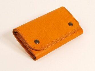【受注製作】財布 wrap-M [キャメル]の画像
