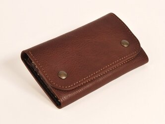 財布 wrap-M [ダークブラウン]の画像