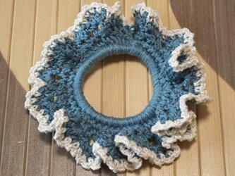 コットン100%の手編みシュシュの画像