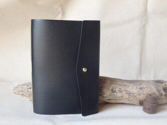 大容量 革のカードケース (ギボシ仕様)  / ブラックの画像