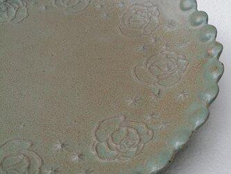 Rose 丸プレート〈blue〉の画像