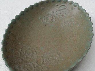 Rose だ円の器〈blue〉の画像