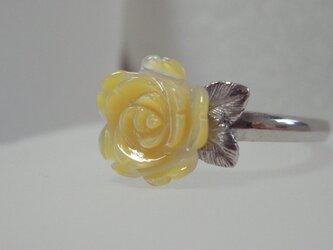 黄色い薔薇のリングの画像