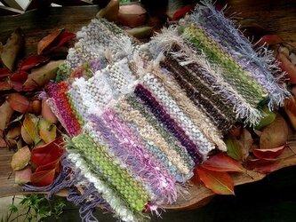 色彩り織りマフラー ロング カラフルの画像