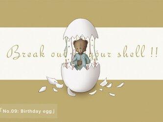 ポストカード3枚セット No.09「Birthday egg」の画像