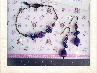 *chic purple beads*の画像