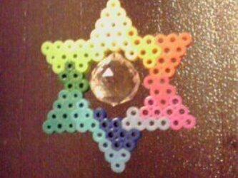【力の調和と安定六芒星型】色相環風サンキャッチャー【虹の母】の画像