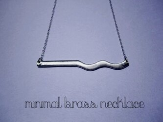 Minimalismシリーズ Brass Necklaceの画像
