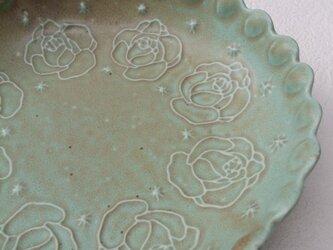 Rose 丸プレート中〈blue〉の画像