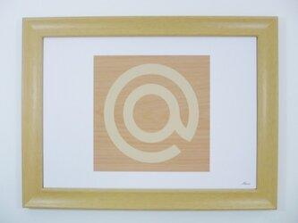 インテリアアートパネル 紋章@木の画像
