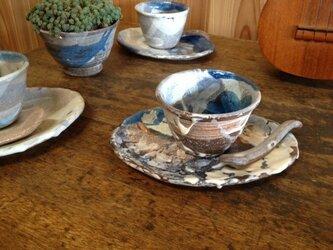 料理教室のための三点セット (藁灰釉)の画像