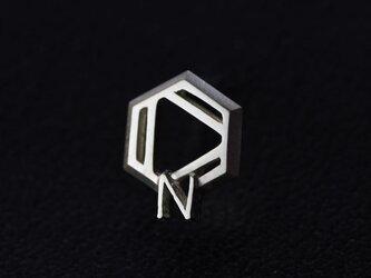 ピリジン 化学式ピアス®片耳の画像