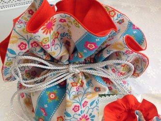 No.18 matryoshka flowery bagの画像